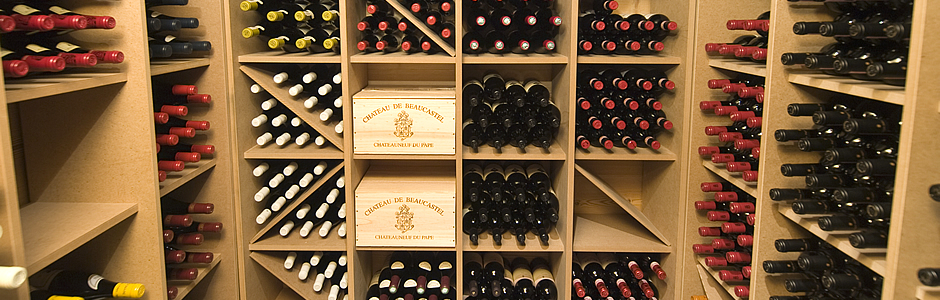Explore the wine cellar at Maison Blanche & Verte