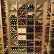Fully stocked cellar of fine wines at Maison Blanche & Verte
